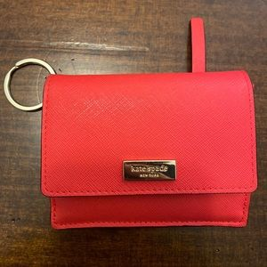 Kate Spade Bifold Wallet credit card key ring coin